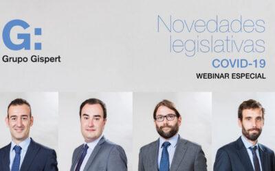 Webinar especial sobre las novedades legislativas derivadas del Covid 19